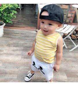 Baby Clothing Tops Sleeveless Summer Cotton T-Shirts Newborn Striped Shirts