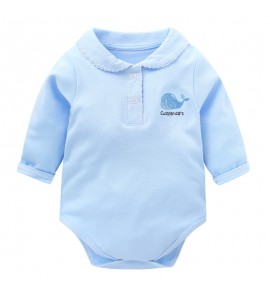 Baby Clothing Sleepwear  Collar Cotton Jumpsuit Long Sleeve Triangle Clothes
