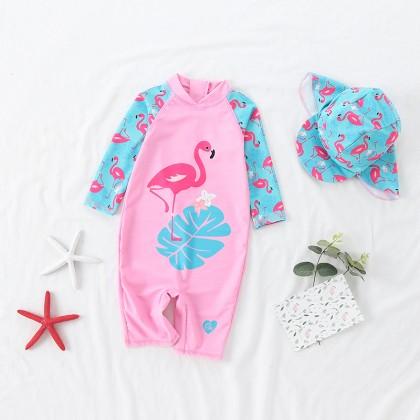 Baby Clothing Swimwear Girl Flamingo Trunks Beach Attire Swimming Anti Leak