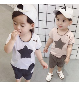 Kids Clothing Boys Sets Summer Spring Cotton Short Sleeve Clothes  New Outfits
