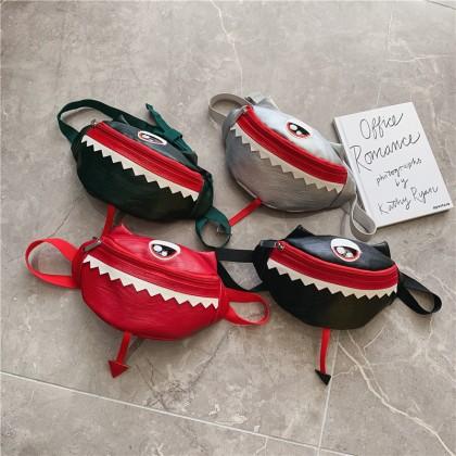Kids Bags Boys Little Monster Cute Pocket Messenger Handbag Korean Style Belt