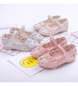 Kids Shoes Girls Princess Casual Footwear Sandals Outwear Leather Female
