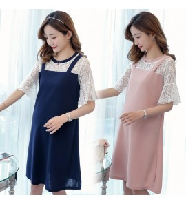 Women Maternity Clothing Dress Summer Spring Pregnancy Mom Lace Fashion Outwear