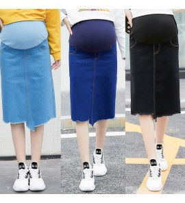 Women Maternity Clothing Skirts New Denim Stomach Lift Pregnancy Mom Outwear