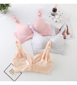 Women Maternity Underwear Nursing Bra Cotton Postpartum Pregnancy Open Buckle