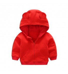 Baby Clothing Tops Girls Hooded Jacket Autumn Children's Cotton Clothes Shirts
