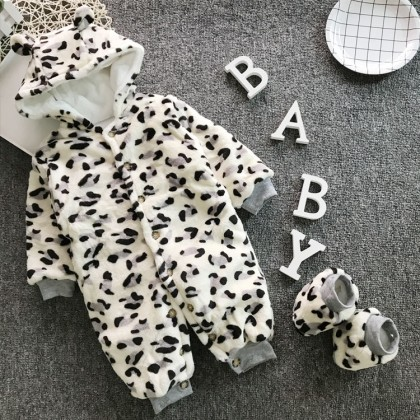 Baby Clothing Winter Wear Cotton Fur Jumpsuit Onesies Newborn Thick Clothes Coat