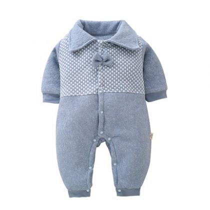 Baby Clothing Winter Wear Cotton Newborn Tide Cute Bow Jumpsuit Winter Outwear