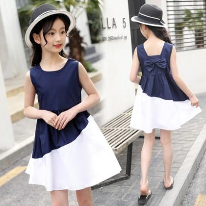 Kids Clothing Dress Set Girls Sleeveless Little Children's Summer Casual Outfits
