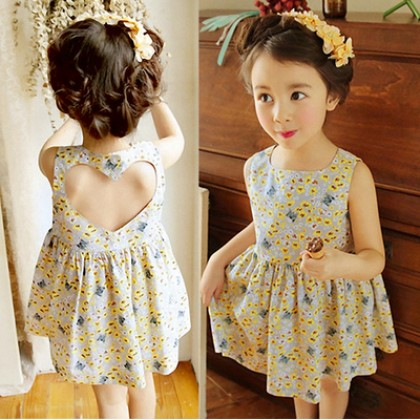 Kids Clothing Dress Girls Summer And Spring Floral Children's Casual Cute Little