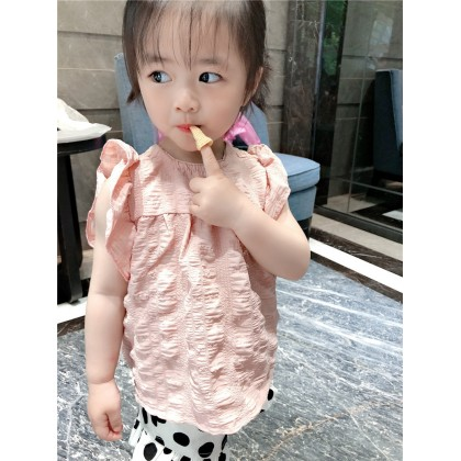 Kids Clothing Tops Girls Loose Summer Spring Children's Baby Doll Fly Sleeves