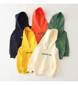 Kids Clothing Tops Boys Hooded Jacket Children Autumn Winter Wear Korean Style
