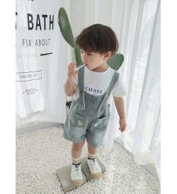 Kids Clothing Bottoms Boys Denim Overall Jumper Children's Wear Summer Cotton