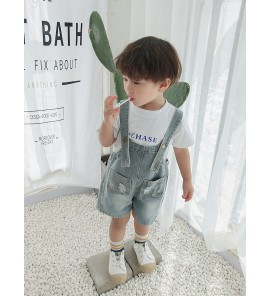 Kids Clothing Bottoms Boys Denim Overall Jumper Children's Wear Summer Cotton