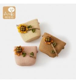 Kids Bags Girls Sling Shoulder Messenger Children's Little Pouch Floral Design