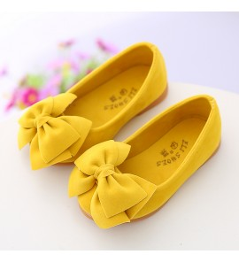 Kids Shoes Girls Princess With Bow Flats Doll Soft Bottom Sandals New Footwear
