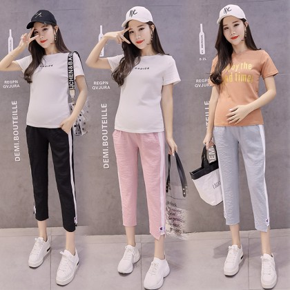 Maternity Clothing Pants Cotton Trousers Women Pregnancy Summer Outfits Sporty