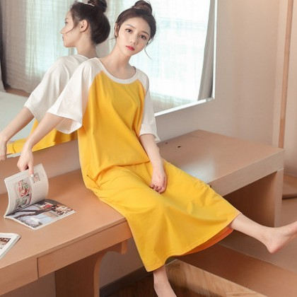 Maternity Clothing Sleepwear Loose Cotton Female Night New Dress Pregnant Women