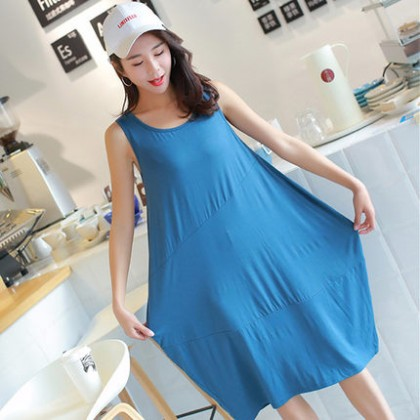 Maternity Clothing Sleepwear Cotton Sleeveless Night Wear Postpartum Summer Female