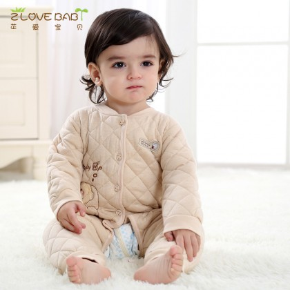 Baby Clothing Winter Newborn Thick Cloth Jumpsuit Romper Soft Cotton Wear Coat
