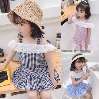 Kids Clothing Dress Lace Summer and Spring New Girl Cotton Tide Outwear Outfits