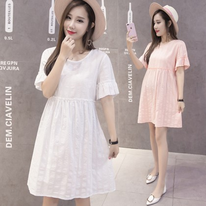 Maternity Clothing Dress Baby Doll Loose Summer Thin Section Pregnancy Outfits