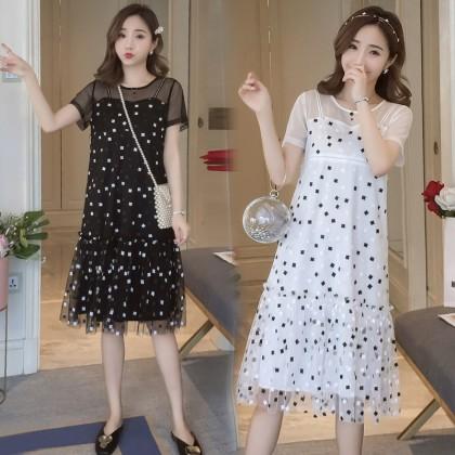Maternity Clothing Nursing Wear New Lace Chiffon Dress Pregnancy Women Outwear