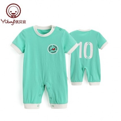 Baby Clothing Soft Cotton Jumpsuit Short Sleeve Tide New Summer Spring Outwear