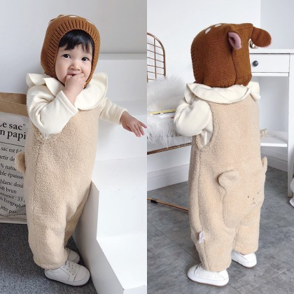 Baby Clothing Winter Wear Thick Clothes Newborn Cotton Jumpsuit New Outwear