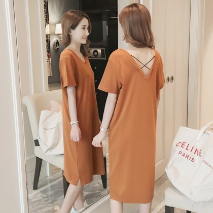 Maternity Clothing Dress Pregnant Women Cotton Loose Tide New Postpartum Outwear