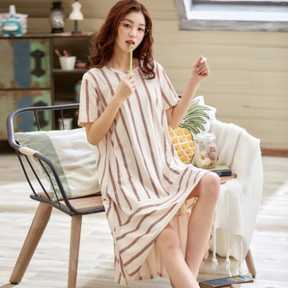 Maternity Clothing Sleepwear Women Pregnancy Long Soft Cotton Summer Night Wear