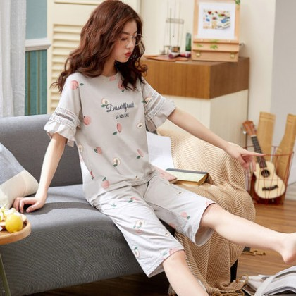 Maternity Clothing Sleepwear Short Sleeved Cotton Loose Tide Night Pregnant Wear
