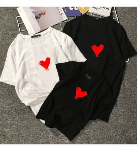 Parent Child Clothing Family of Three Cotton Short Sleeve Loose Summer Outwear