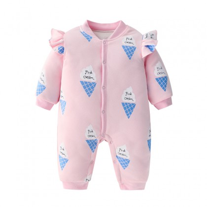 Baby Clothing Winter Wear Clothes Jumpsuit Newborn Thick Pajamas Autumn Cotton