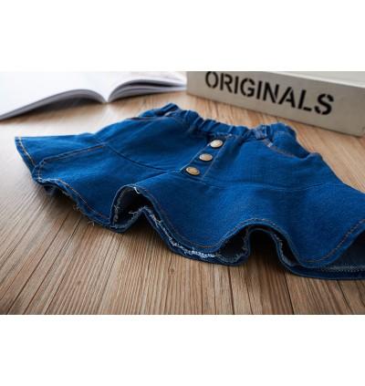Kids Clothing Girls Bottoms Female Denim Mini Skirts Summer Outwear Casual
