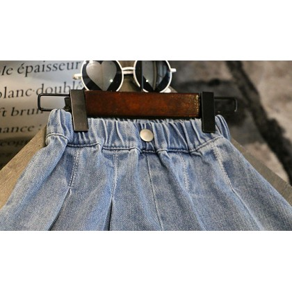 Kids Clothing Girls Bottoms Denim Mini Skirts Female Summer Children's Outfits