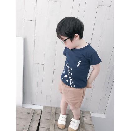 Kids Clothing Boys Tops Summer Cotton T- Shirts Male Children Round Neck Outwear