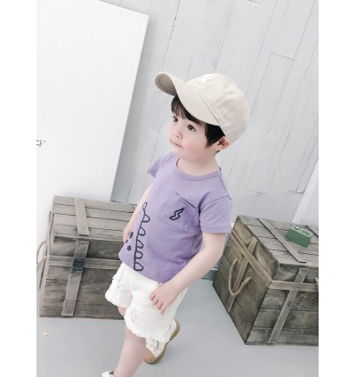 Kids Clothing Boys Tops Summer Cotton T- Shirts Male Children Round Neck Outwear