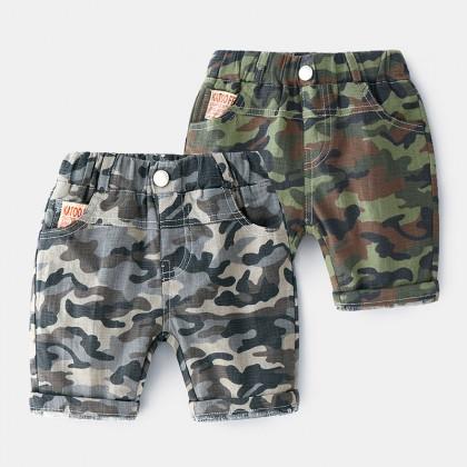 Kids Clothing Boys Bottoms Short Summer Children Cotton Beach Pants Camouflage