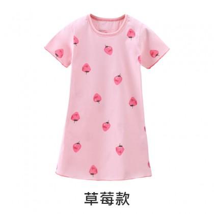 Kids Clothing Girls Sleepwear Cotton Long Dress Children's Female Night Wear