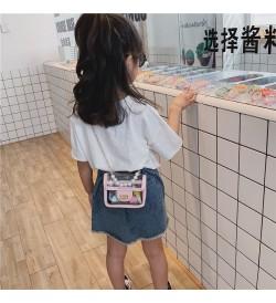 Kids Bags Girls Chain Children's Pearl Transparent Sling Cute Diagonal Cross Bag