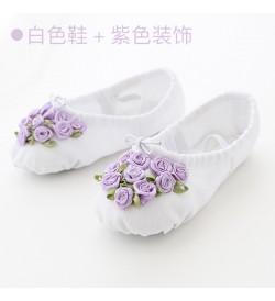 Kids Shoes Girls Cotton Female Children Doll Floral Style Soft Bottom Footwear