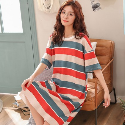 Maternity Clothing Nursing Wear Cotton Long Dress Postpartum Pregnant Women Wear