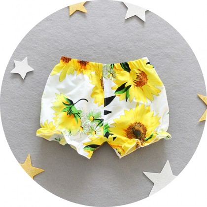 Baby Clothing Bottoms Cotton Shorts Girls Floral Summer Wear Thin Section