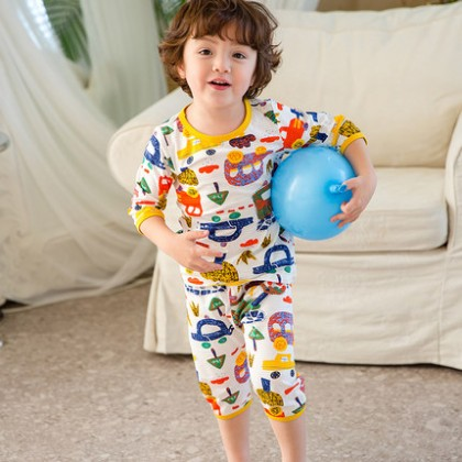 Kids Clothing Boys Sleepwear Male Soft Cotton Summer Children's  Cute Pajamas