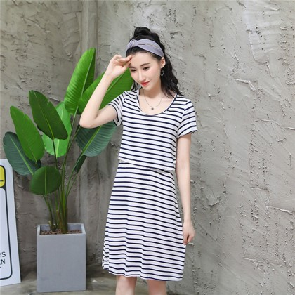 Maternity Clothing Sleepwear Women Pregnancy Outwear Short Sleeved Soft Cotton