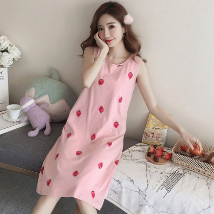 Maternity Clothing Sleepwear Soft Cotton Sleeveless Pregnancy Loose Style