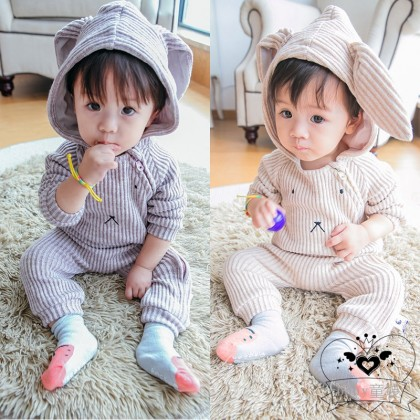 Baby Clothing Winter Wear Soft Thick Cotton Hooded Bunny Style Newborn Clothes