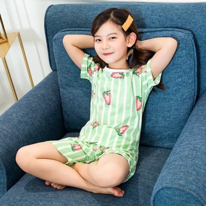 Kids Clothing Girls Sleepwear Set Soft Cotton Shirt Shorts Children's Night Wear