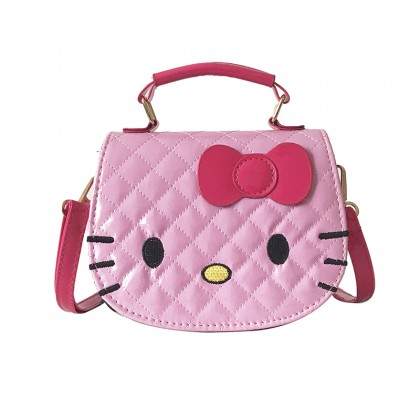 Kids Bags Girls Children Sling Hello Kitty Style Synthetic Cartoon Shoulder Bag